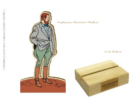 FIGURINE DE COLLECTION EN BOIS N°1- PROFESSEUR PHILIP MORTIMER