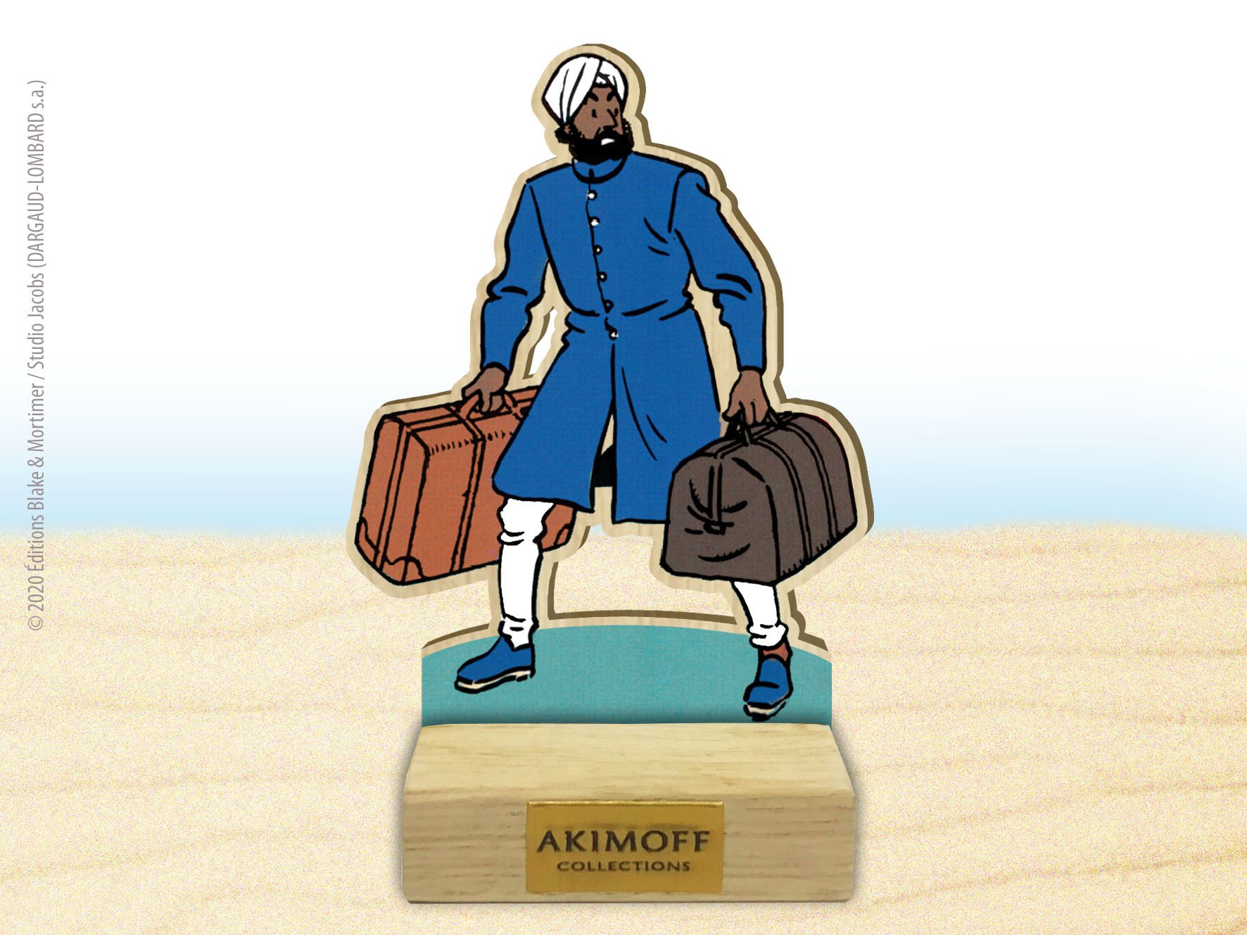 FIGURINE DE COLLECTION EN BOIS N°3 - AHMED NASIR