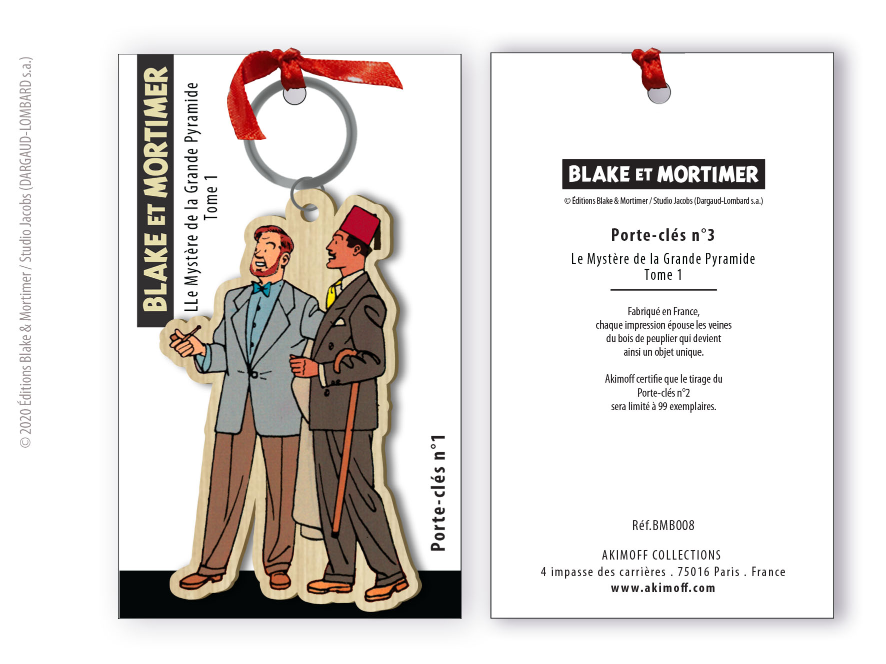 PORTE-CLES DE COLLECTION N°3 - PHILIP MORTIMER ET AHMED RASSIM BEY